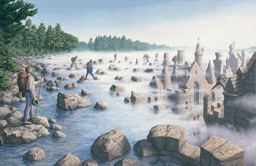 25 illusions d'optique hallucinantes par l'artiste canadien Rob Gonsalves