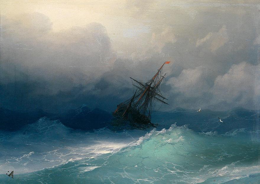 Ces peintures hypnotiques de vagues translucides du 19e siècle montrent la puissance brute de la mer (10 images)