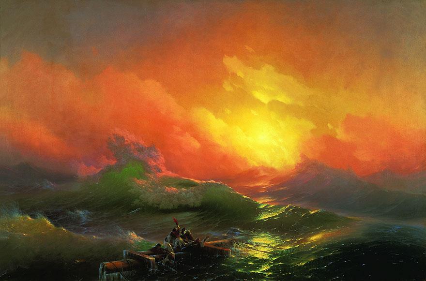 Ces peintures hypnotiques de vagues translucides du 19e siècle montrent la puissance brute de la mer – ipnoze