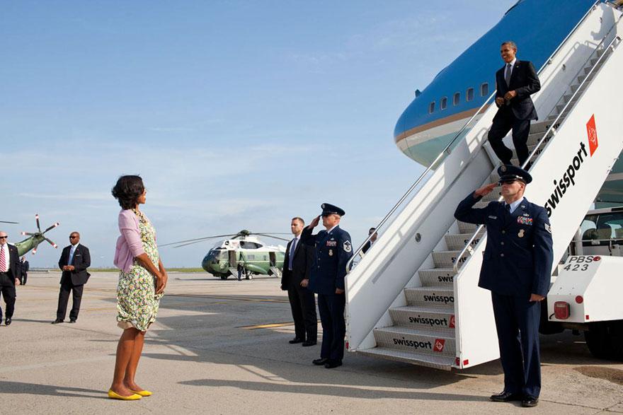 L'histoire d'amour entre Barack et Michelle Obama en images