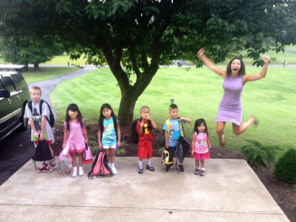 Des mamans et des papas publient le moment horrible où leurs enfants retournent à l'école