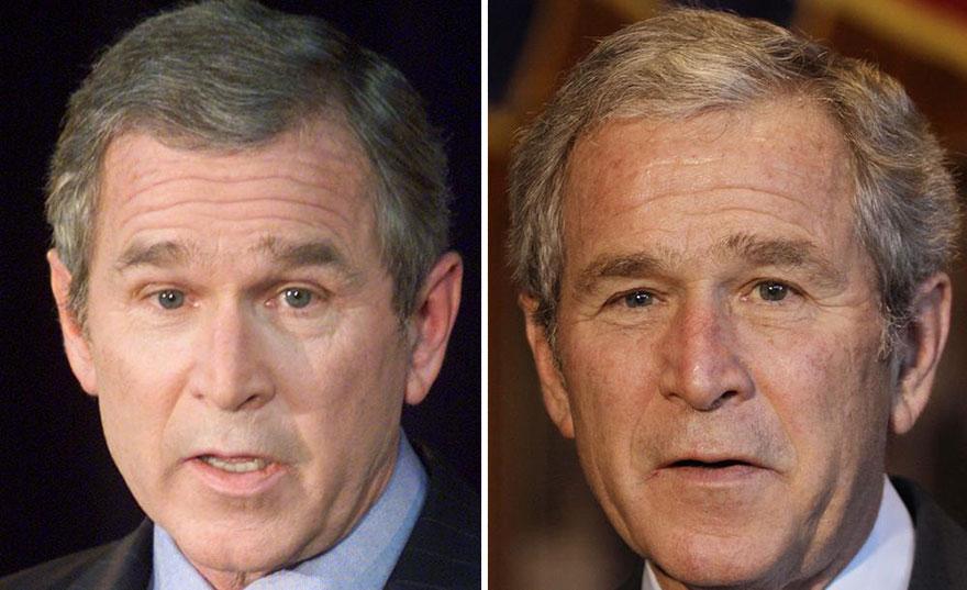 11 photos avant et après qui montrent les conséquences physiques qu'entraîne la présidence des États-Unis