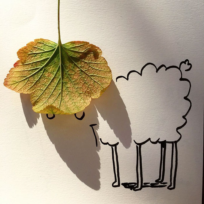 Un artiste transforme les ombres d'objets du quotidien en illustrations amusantes