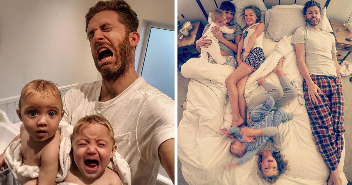 Ce père de 4 filles refuse d'édulcorer ses photos Instagram et conquiert le coeur des internautes