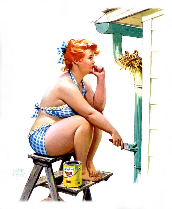 20 illustrations sexy de Hilda, la célèbre pin-up ronde oubliée des années 1950