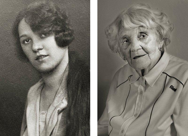 13 photos avant et après montrent des personnes en tant que jeunes adultes et à 100 ans