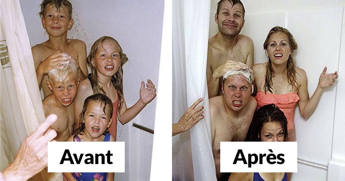 30 fois où des frères et soeurs ont reproduit leurs photos d'enfance et c'était vraiment drôle