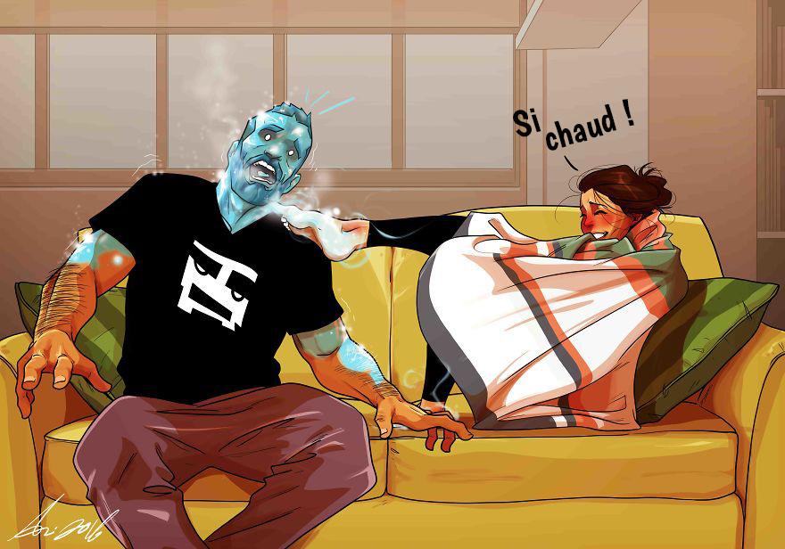 Un artiste présente sa vie quotidienne avec sa femme en 20 bandes dessinées amusantes