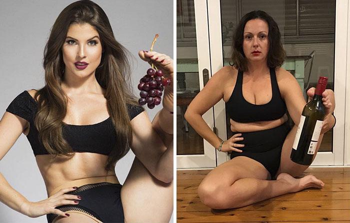 Une femme reproduit les photos Instagram de célébrités, et le résultat est hilarant (nouvelles images)