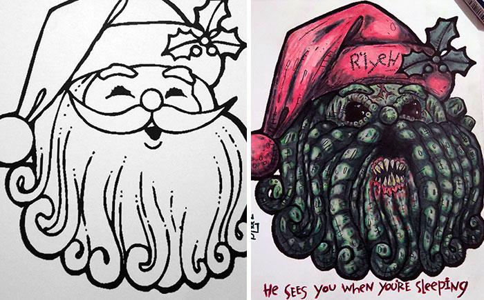 48 fois où des adultes ont colorié des livres de coloriage pour enfants et le résultat était hilarant