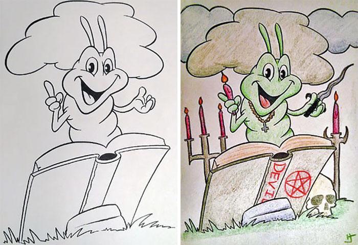 48 fois où des adultes ont colorié des livres de coloriage pour enfants, et le résultat était hilarant
