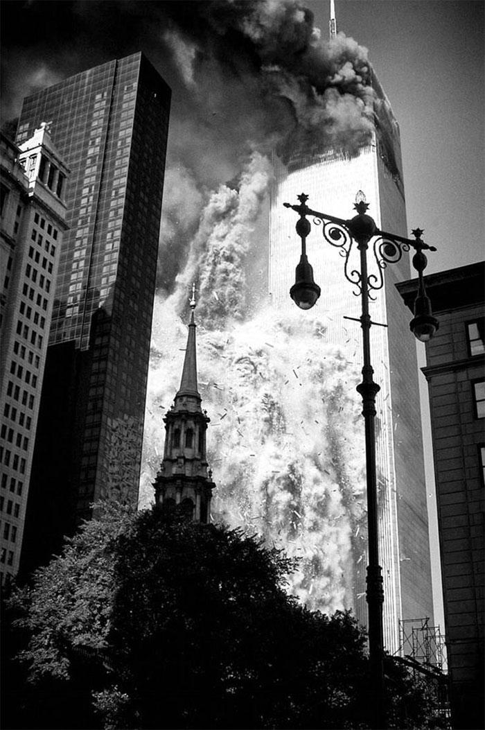 21 rares photos des attentats du 11 septembre 2001 que vous n'avez probablement jamais vues