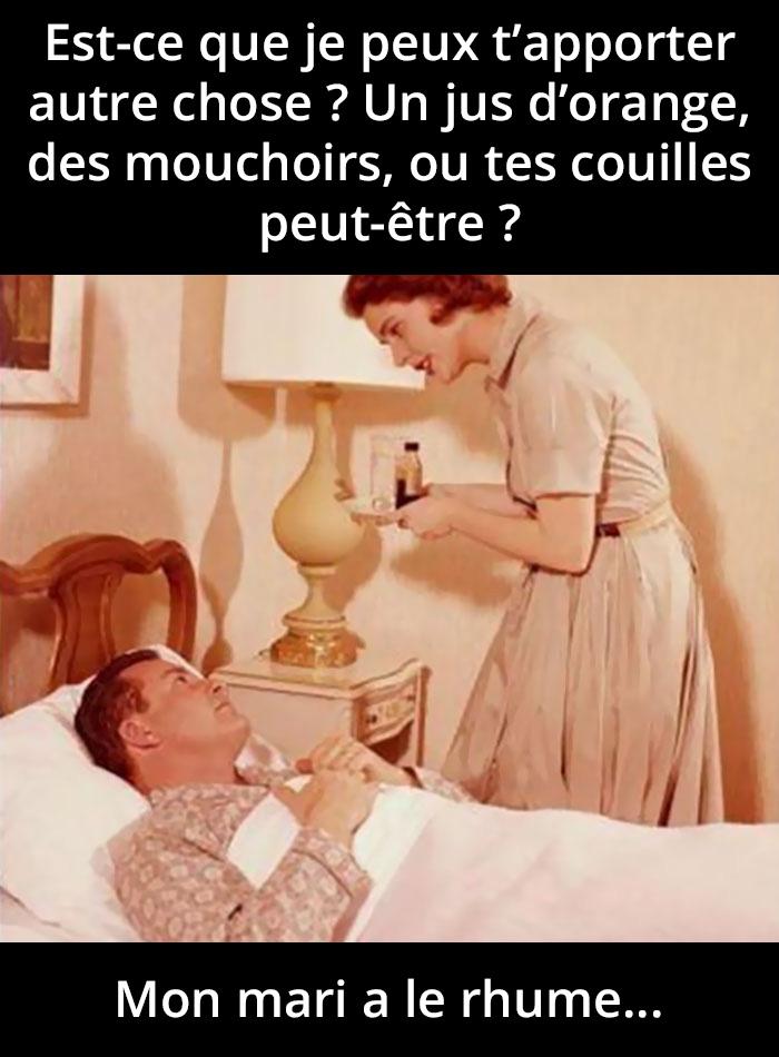 20 blagues hilarantes sur les hommes qui attrapent un rhume et qui pensent qu'ils sont en train de mourir