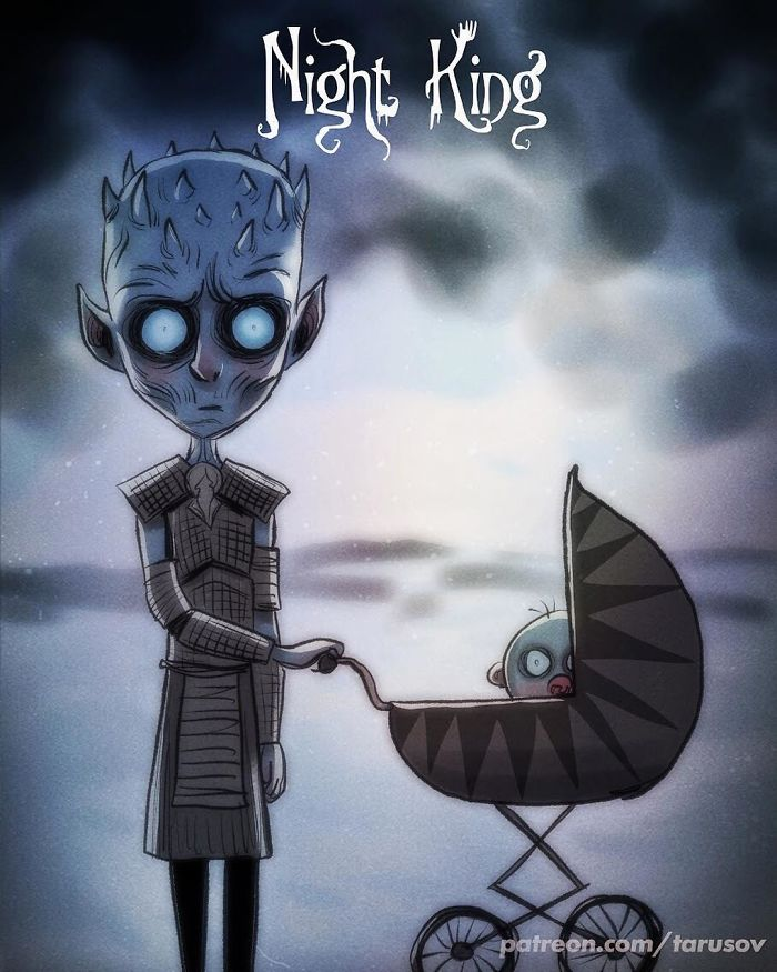 Si Tim Burton avait dessiné les personnages de Game of Thrones (12 images)