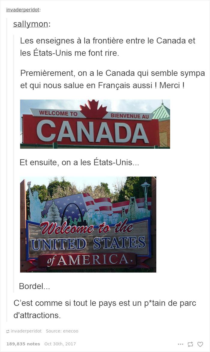 9 fois où le Canada a taquiné les États-Unis et c'était à mourir de rire