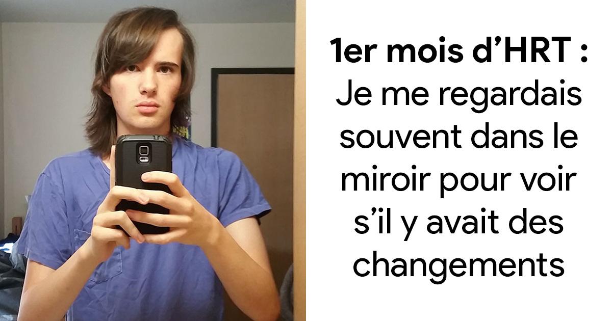 Un homme partage des photos de sa transition incroyable en femme sur 17 mois, et son expression dans la dernière photo veut tout dire