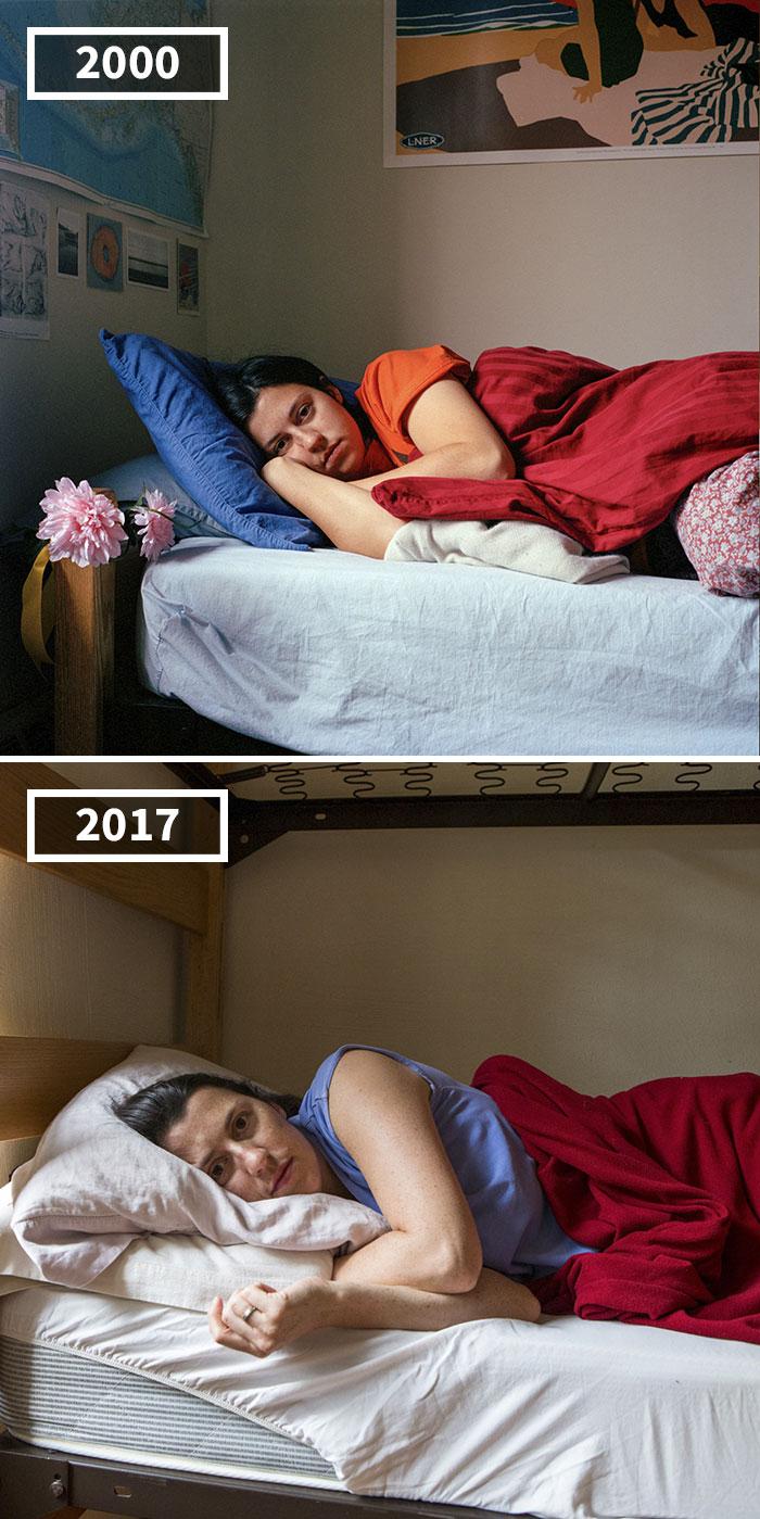 Cette photographe a photographié ses amis en 2000 et à nouveau en 2017 pour montrer à quel point les gens vieillissent différemment