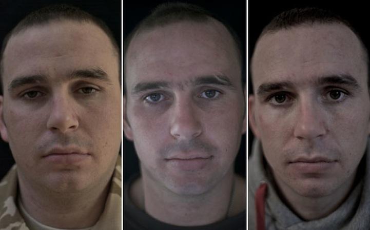 14 soldats photographiés avant, pendant et après la guerre