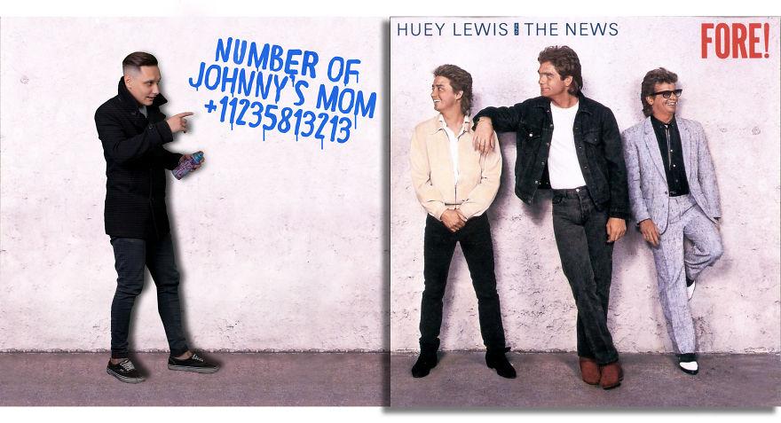 21 images hilarantes révèlent ce qui se passe à l'extérieur des bordures de pochettes d'albums célèbres
