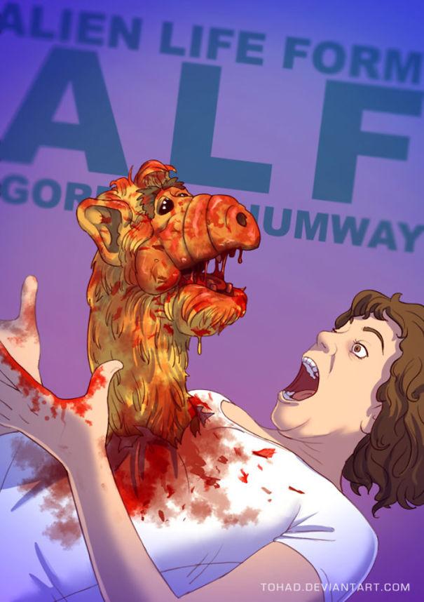 Un artiste français transforme les personnages de nos dessins animés préférés en monstres fantastiques