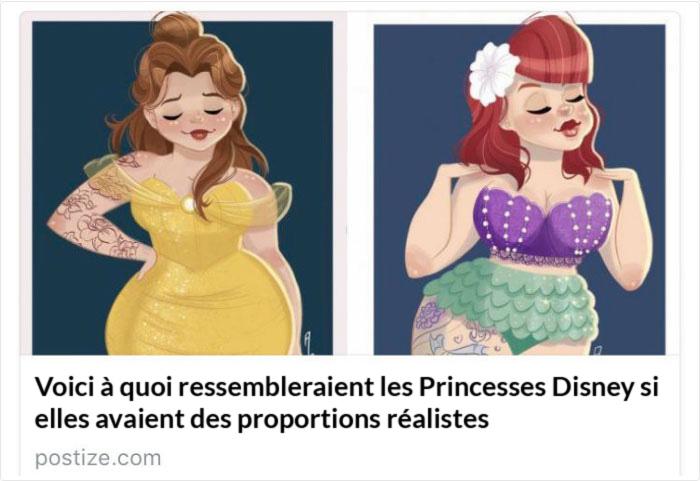Une femme affirme que ces Princesses Disney avec des «proportions réalistes» la rendent folle, et voici pourquoi