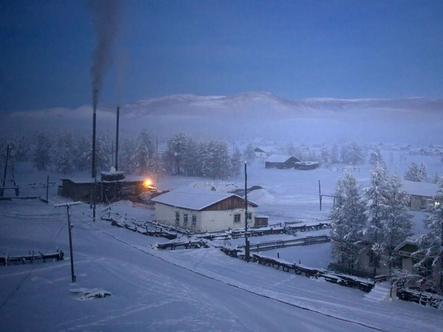 Un photographe visite le village le plus froid sur Terre où la température peut atteindre -67,7 °C