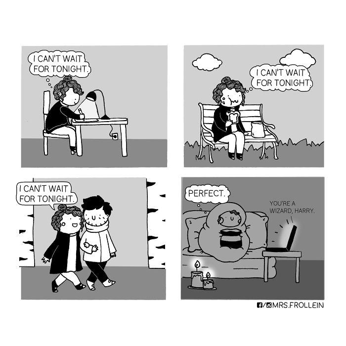 20 petites bandes dessinées amusantes inspirées de ma relation avec mon petit ami et mes luttes quotidiennes