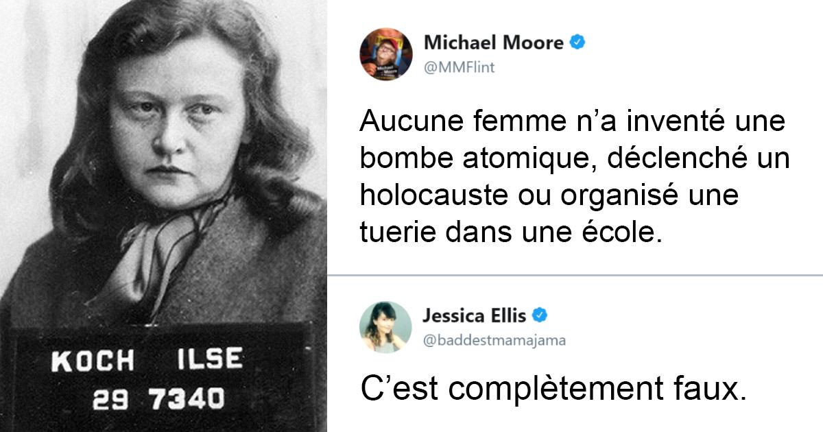 Michael Moore tente de prouver que les femmes sont meilleures que les hommes, mais il se fait clouer le bec par une femme