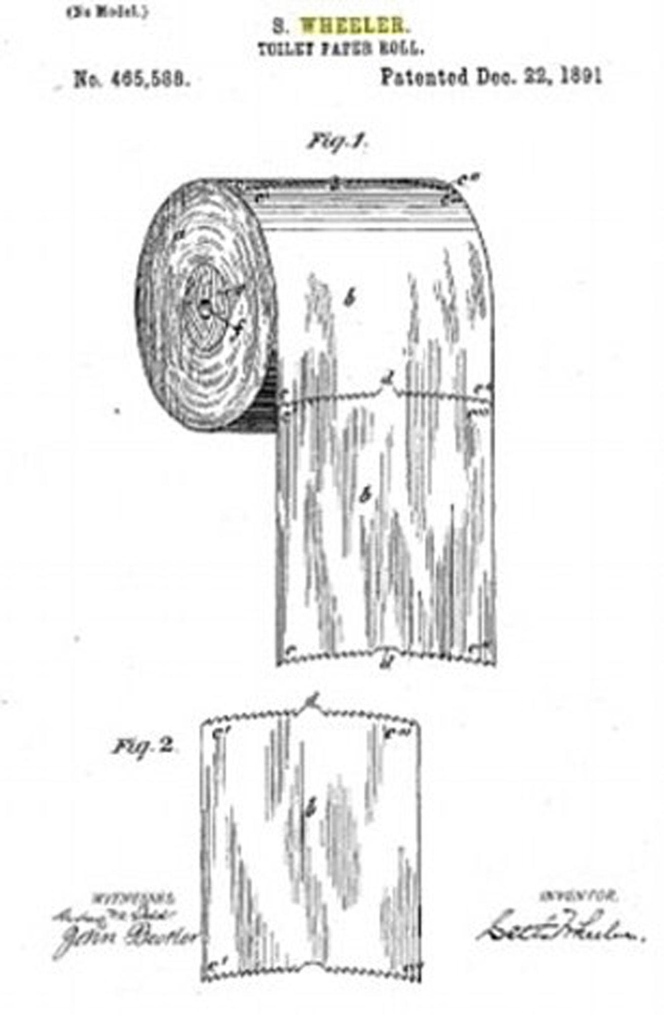 La feuille du rouleau de papier de toilette va-t-elle par-dessus ou en dessous? Un diagramme vieux de 128 ans nous donne la réponse