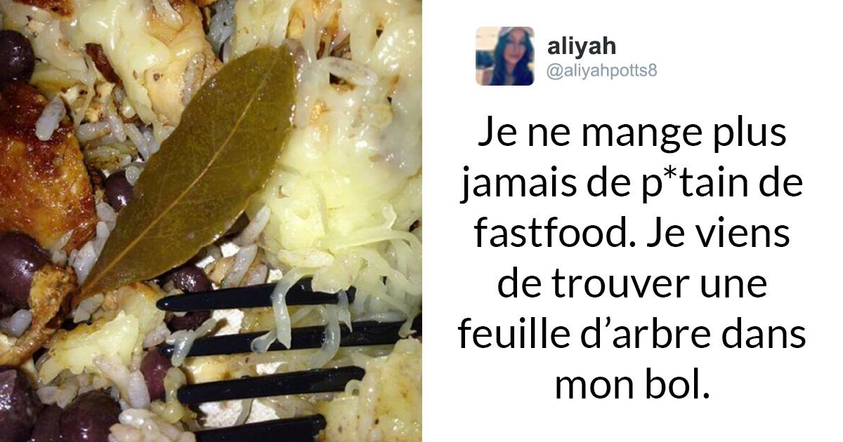 10 fois où des gens ont trouvé des feuilles étranges dans leur nourriture et s'en sont plaints sur Internet