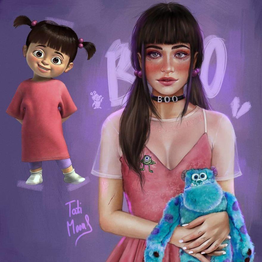 Cette artiste crée des versions plus réalistes de personnages de dessins animés et le résultat est bluffant