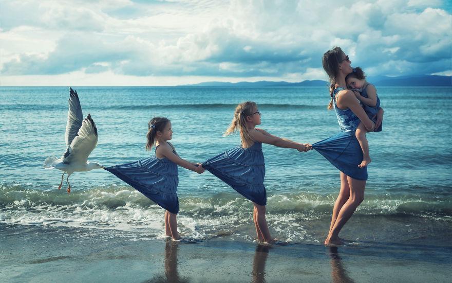 Je crée des photomontages tordus avec mes trois filles et mon fils, et voici ce qu'on a fait jusqu'à présent