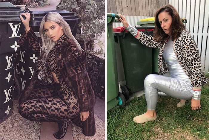 Cette femme continue d'imiter les photos Instagram de célébrités et le résultat est mieux que l'original