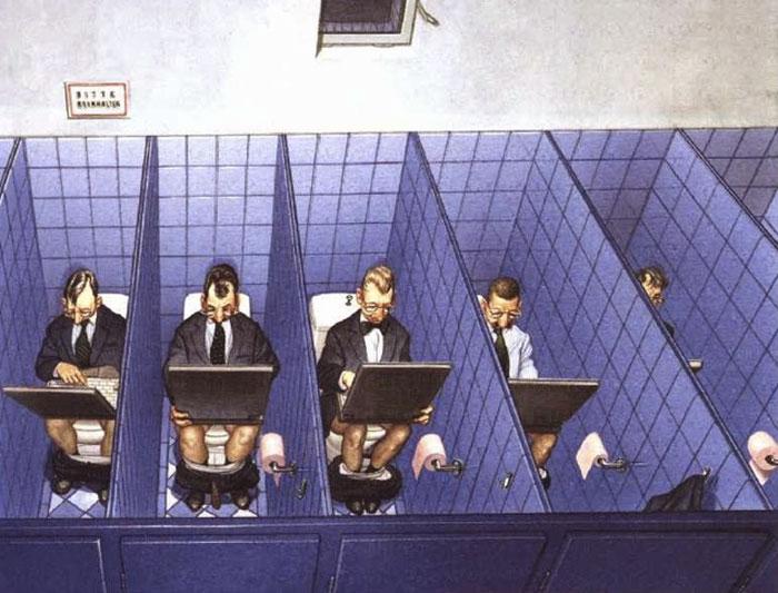 31 illustrations d'une franchise brutale par Gerhard Haderer qui montrent ce qui cloche avec la société moderne