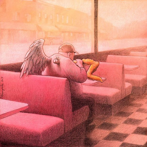 30 nouvelles illustrations d'une franchise brutale par Pawel Kuczynski qui montrent ce qui cloche avec la société moderne