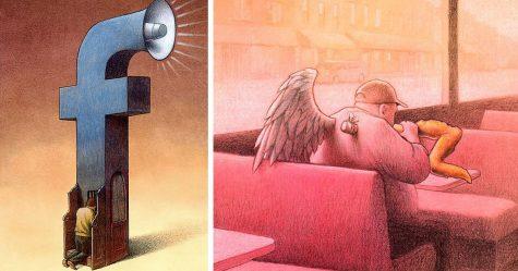 15 illustrations satiriques qui vous feront remettre en question l'évolution humaine