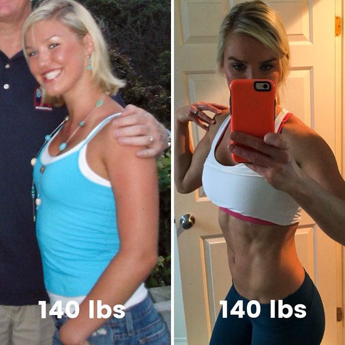 20 photos avant et après qui prouvent que votre poids ne veut rien dire