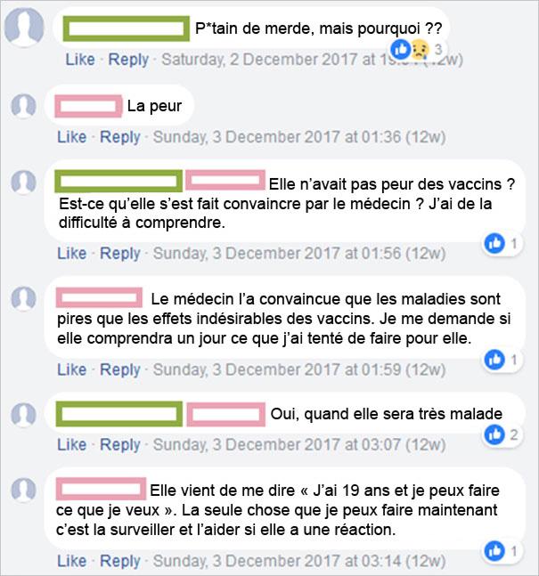 Cette mère qui s'oppose à la vaccination a appris que sa fille de 19 ans s'est fait vacciner, et ses messages vous laisseront perplexe