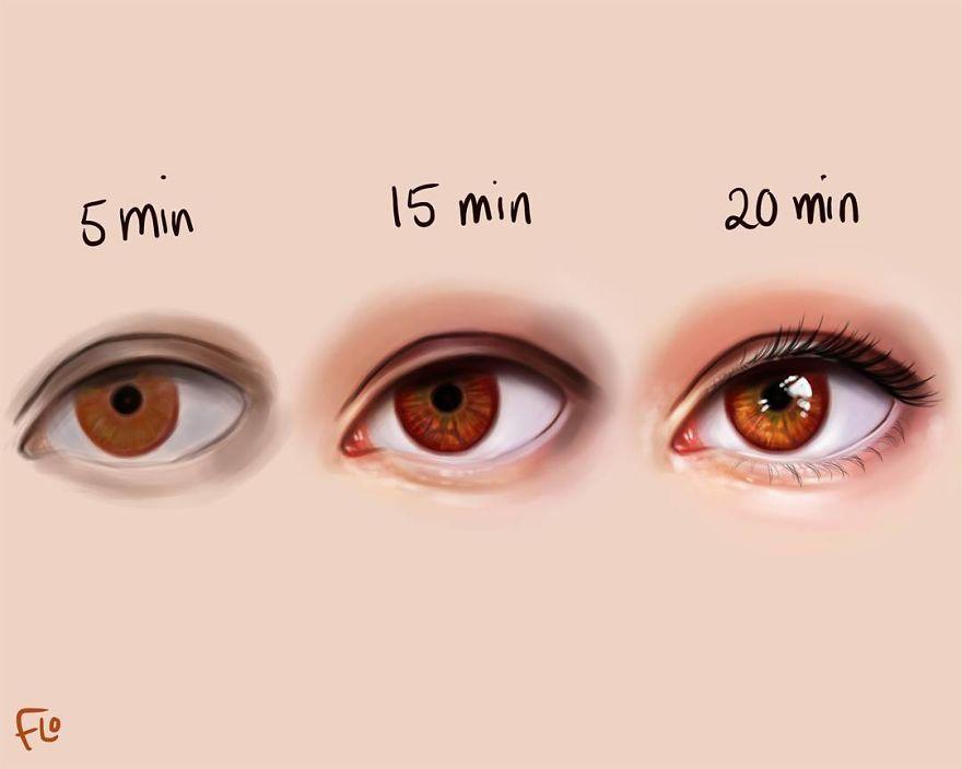 Cette artiste montre la quantité de temps dont elle a réellement besoin pour parfaire un dessin