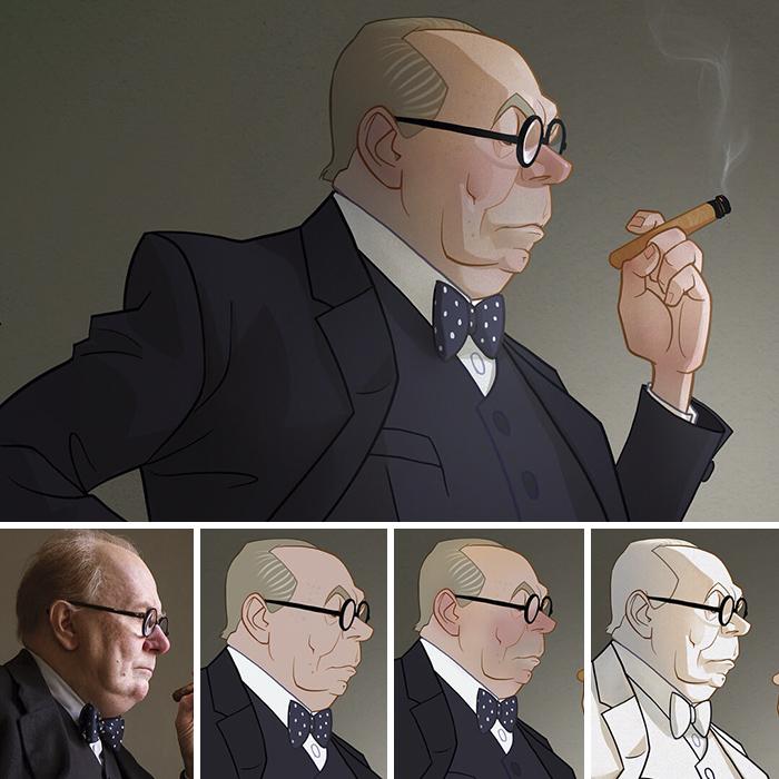 Cet artiste transforme les personnages de films en caricatures (14 images)