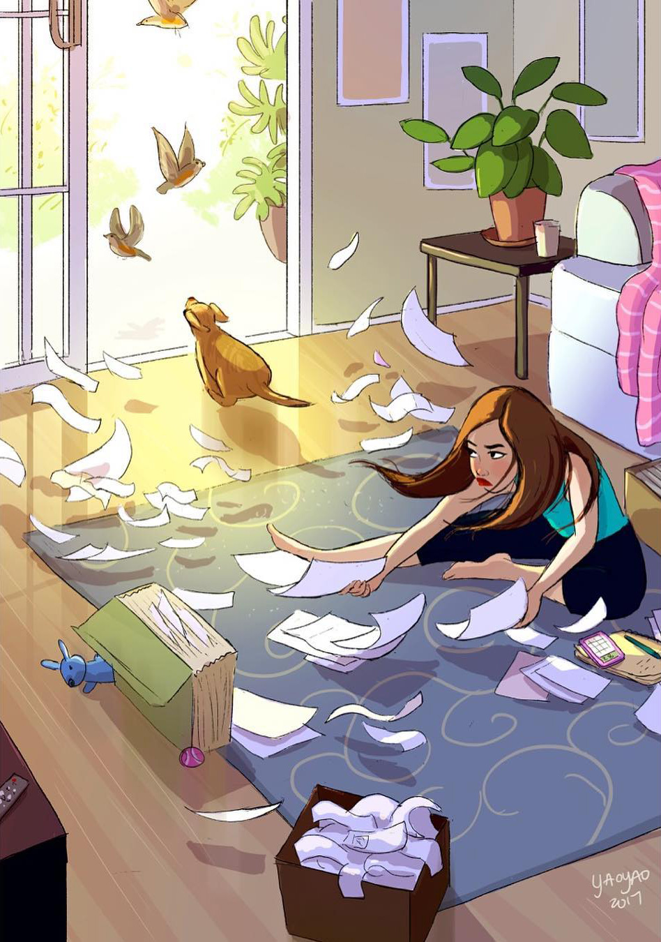24 illustrations chaleureuses qui montrent que les propriétaires de chiens ne se sentent jamais seuls