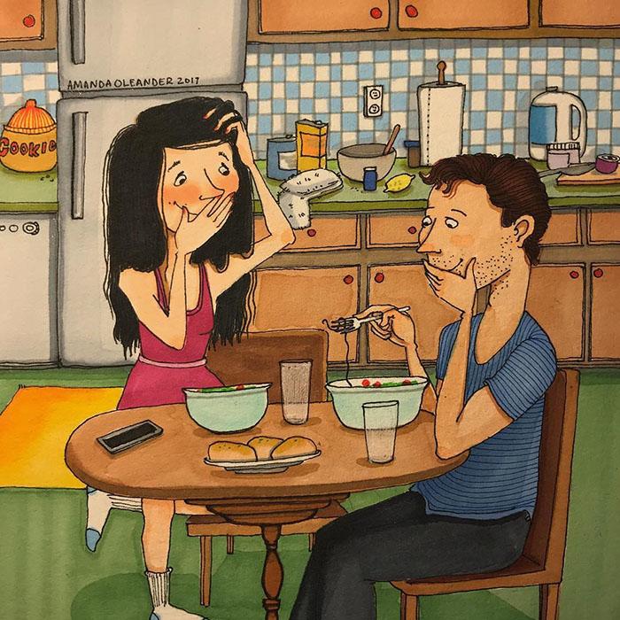 20 illustrations d'une franchise brutale révèlent le côté caché des relations à long terme