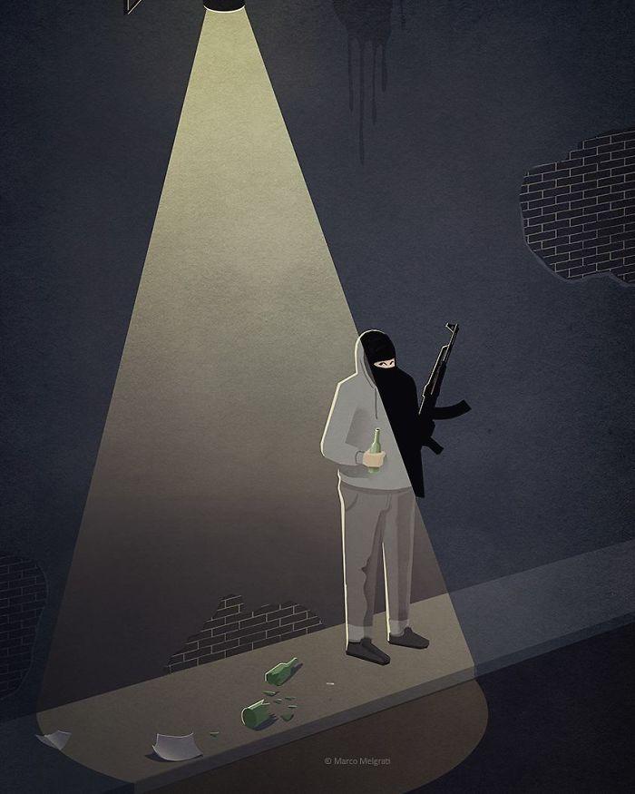 J'ai créé ces 20 illustrations sur la triste vérité de la vie moderne pour vous faire réfléchir
