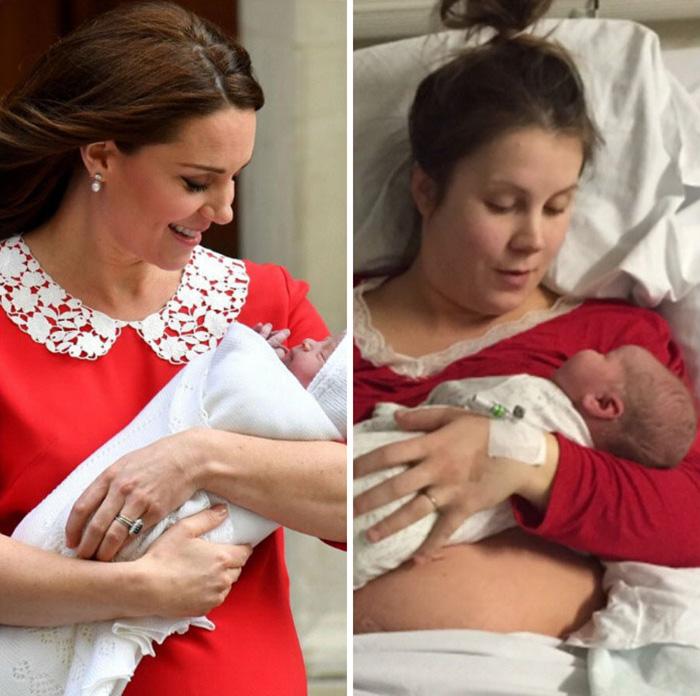 Des femmes partagent leurs photos postnatales après avoir vu les photos impeccables de Kate Middleton