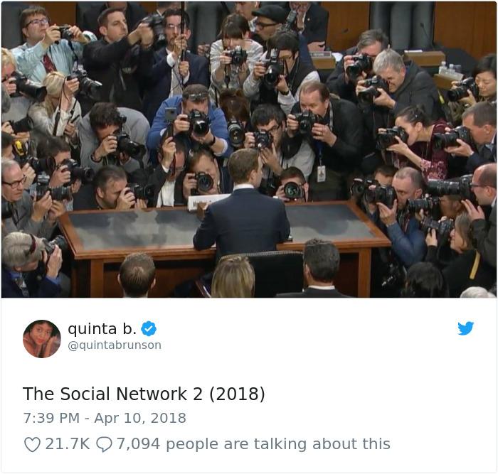 20 façons hilarantes dont les internautes se sont moqués de Mark Zuckerberg lors de son témoignage devant le Congrès
