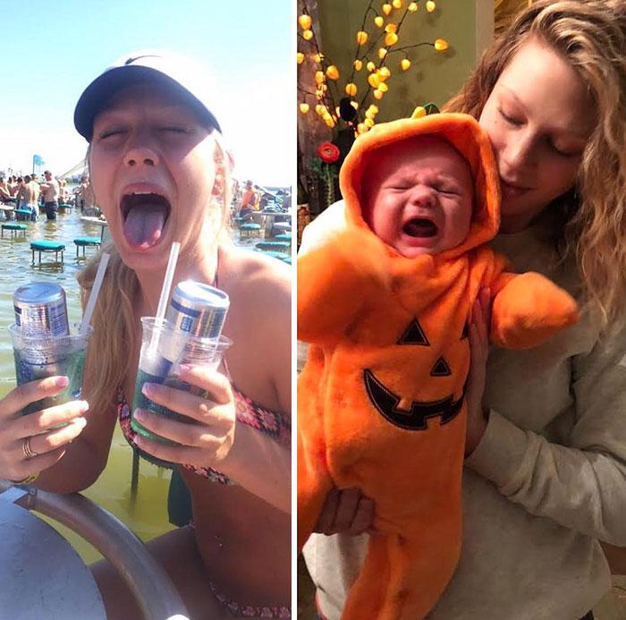 29 parents qui ont partagé des photos d'eux avant et après avoir eu des enfants et la différence est hilarante