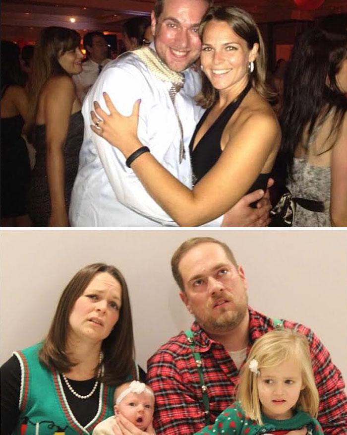 29 parents ont partagé des photos d'eux avant et après avoir eu des enfants et la différence est hilarante