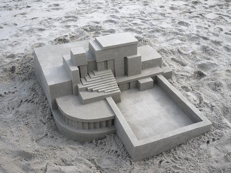 Voici ce qui arrive quand un architecte décide de faire des châteaux de sable (14 photos)