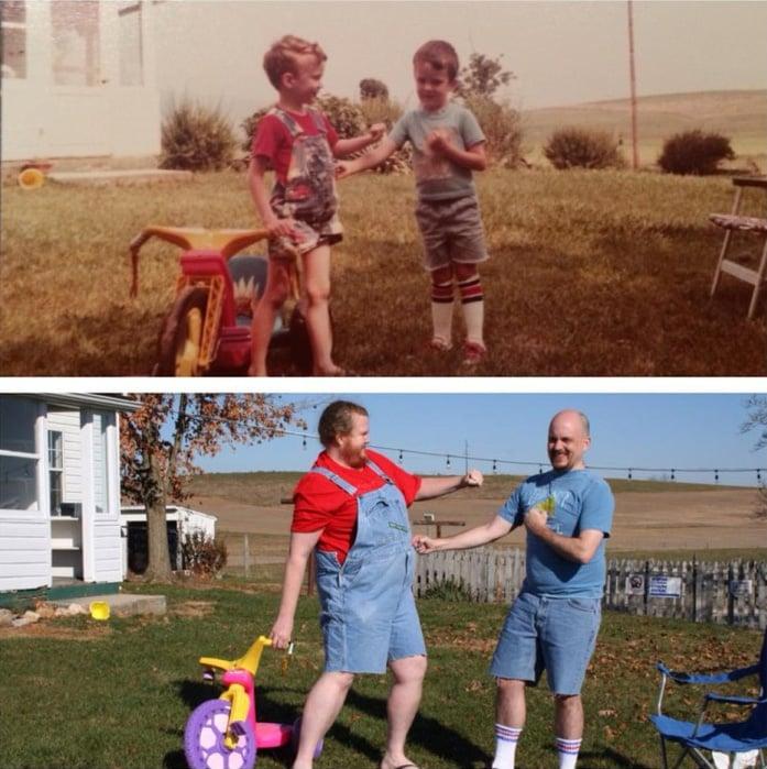 19 photos qui montrent que le temps nous change, mais que l'amour ne change jamais