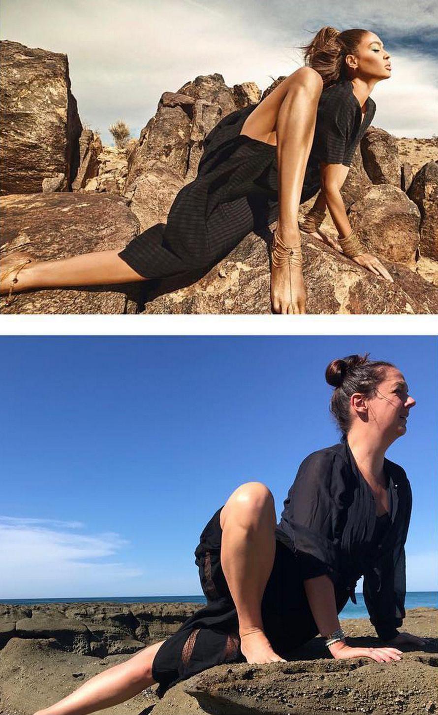 Cette femme qui reproduit les photos instagram de célébrités est de retour, et ces 33 photos vont vous faire rire, c'est garanti